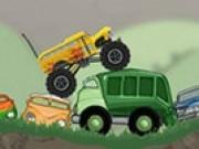 Camioane de jucarie distrugatoare