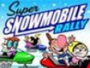 Cartoon Snowmobile Race