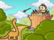 Jocuri cu Dinozauri atacand