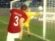 Fotbal 3d gol din centrare