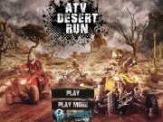 atv de curse in desert