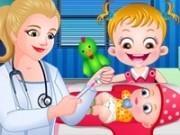 baby hazel la doctor cu fratiorul