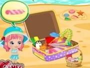 Jocuri cu bebelusa alice la plaja