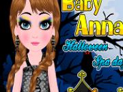 Jocuri cu bebelusa anna la spa de halloween