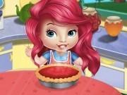 Jocuri cu bebelusa ariel gateste prajitura tarta