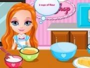 Jocuri cu bebelusa barbie gateste prajituri gustoase