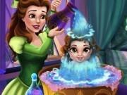 Jocuri cu bebelusa belle face baita