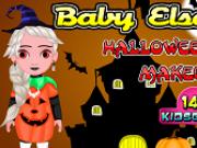 bebelusa elsa imbracat de halloween