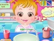 bebelusa hazel spala pe dinti