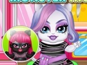 bebeluse monster high de imbracat si gatit