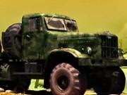 camioane de armata cu remorca 3d
