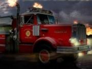 camioane de pompieri in misiune