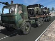 camion de armata cu remorca