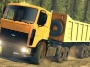 camion rusesc de condus cu remorca