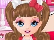 Jocuri cu costume hello kitty pentru bebelusa barbie