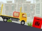curierul cu camione cu remorca