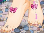 decoreaza picioarele barbie