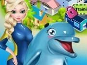 Jocuri cu elsa ingrijeste delfini