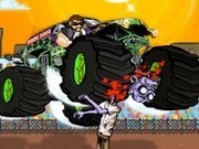 explozii in cursele de camioane distrugatoare de zombi