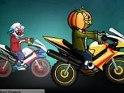 fantome halloween pe motociclete de curse