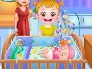 fetita hazel cu fratele bebe