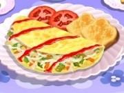 gateste omleta cu legume