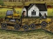 masini cu remorca pe santier