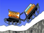 Jocuri cu masini de zapada pe munte