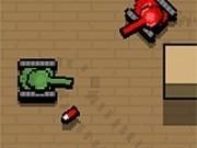 Jocuri cu mici tancuri in arena