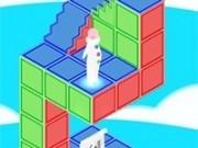 omul prins in puzzle de cuburi