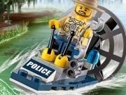 politia lego pe barca 3d