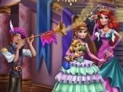 Jocuri cu printesele ariel si anna la balul regal