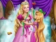 rapunzel face rochia lui barbie