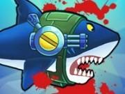 Jocuri cu rechinul cu mitraliera