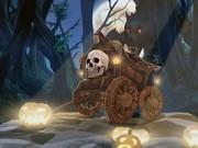 scapa de varcolac cu masini de halloween