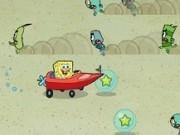spongebob pantaloni patrati conduce masina de curse
