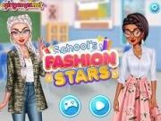 Jocuri cu staruri fashion la scoala