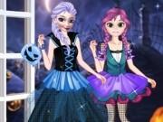 Jocuri cu surorile frozen imbracat de halloween