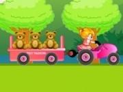 Jocuri cu tractorul transporta jucarii