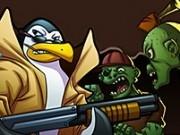 Jocuri cu zombi de distrus cu soldatii pinguini